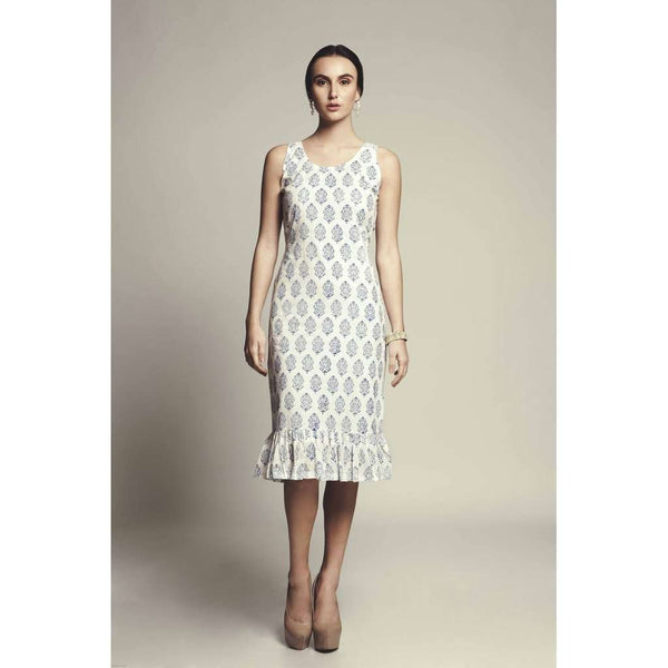 Vera Hand Block Printed Cotton Dress