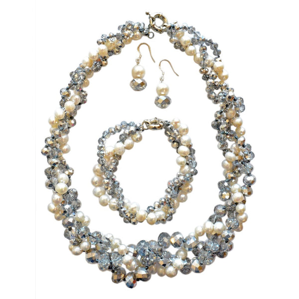 Kristin Pearl and Crystal Necklace