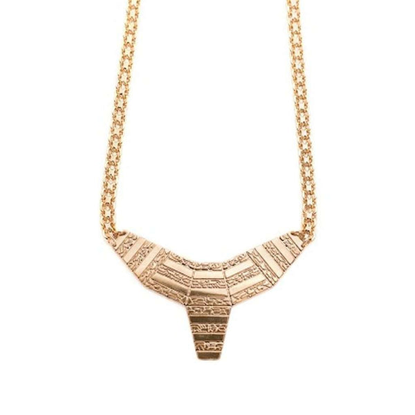 small totem necklace - gold