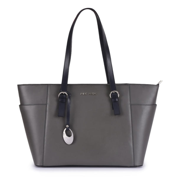 Phive Rivers Women's Leather Grey Handbag