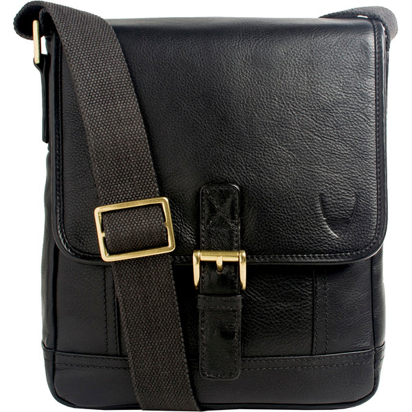 Hunter Small Leather Crossbody Messenger