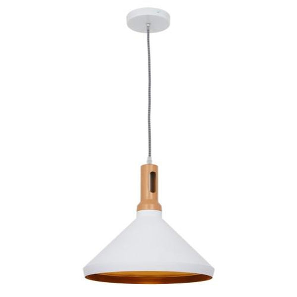 Ohr Lighting® Modern Torche Pendant, Matte White/Gold (OH136)