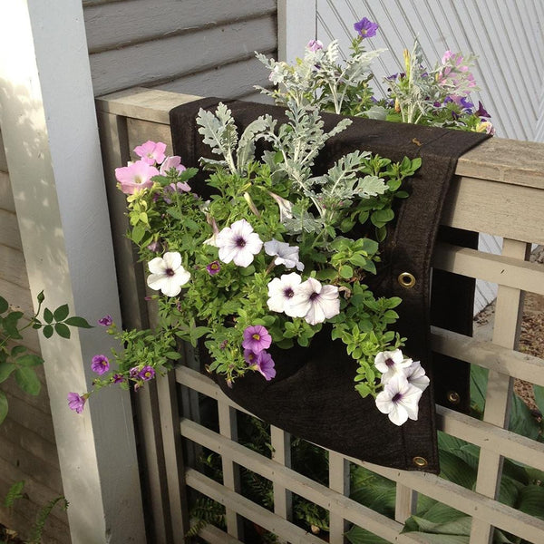 2 Pocket Eco Urban Saddlebag Planter