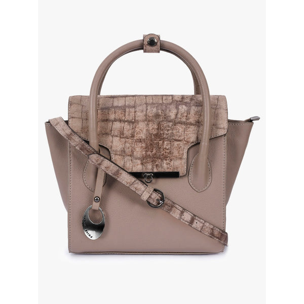 Phive Rivers Women's Grey Leather Handbag
