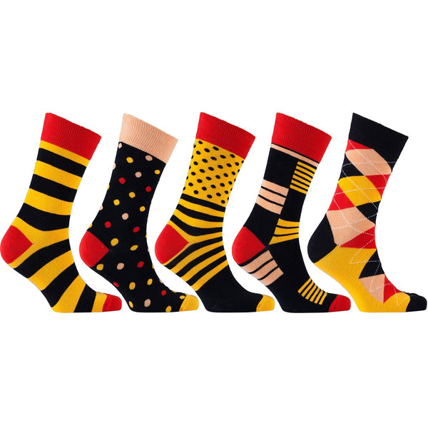 Men'S 5-Pair Funky Mix Socks-3037