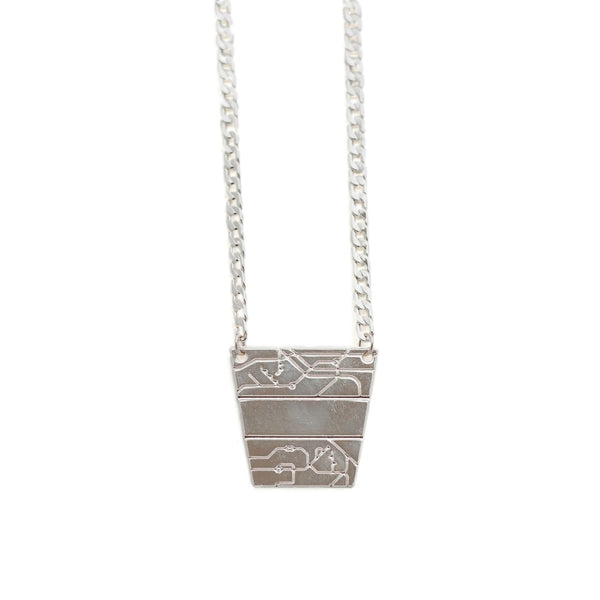 B-B Pyramid Necklace silver