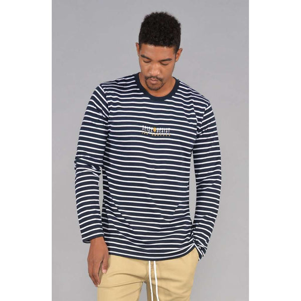 S&D LA Vintage Striped Long Sleeve Tee