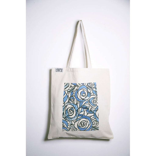 Tote Bag - Blue Roses
