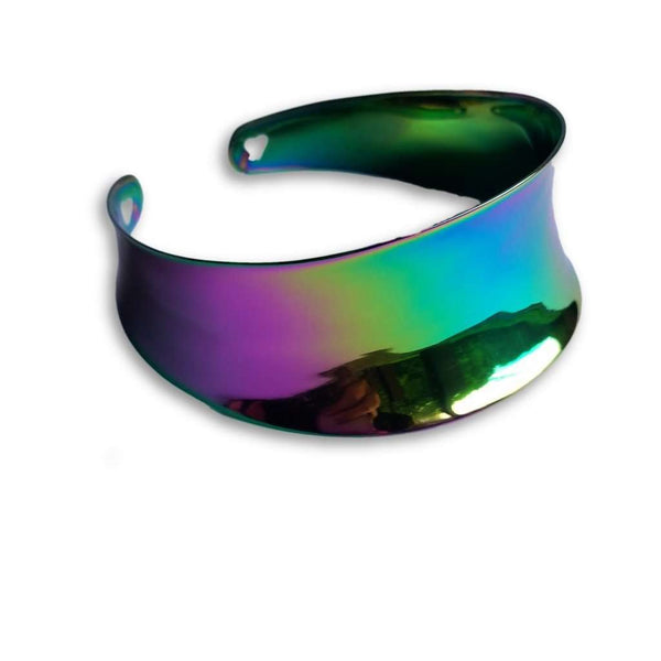 Titanium rainbow collar necklace