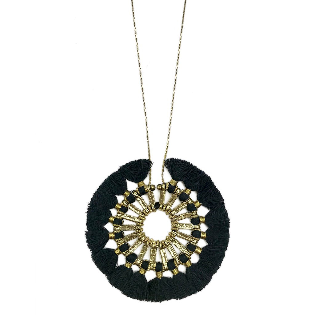 Tassel Halo Necklace