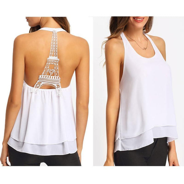 Backless Sexy Women's Blouse