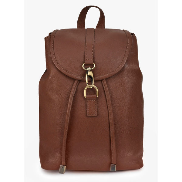 Phive Rivers Women's Leather Backpack (Tan_PR541)