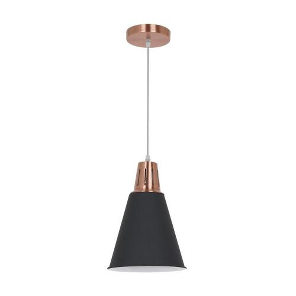 Ohr Lighting® Strutt Pendant, Black/Copper (OH131)
