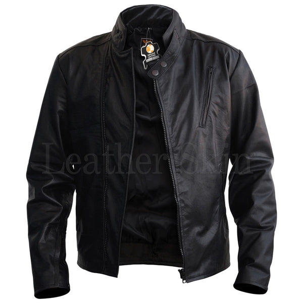 Men Iron Man Style Leather Jacket