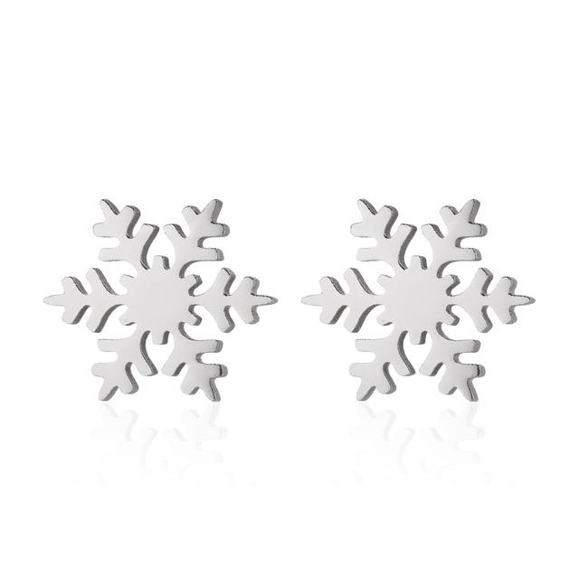 Fashion Snowflake Stud Earrings Christmas Earrings