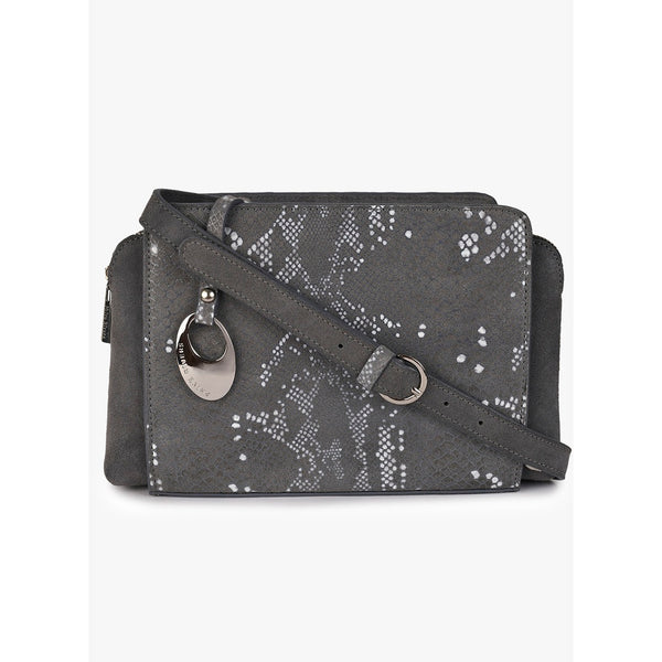 Phive Rivers Women's Leather Crossbody Bag  (Grey_PR538)