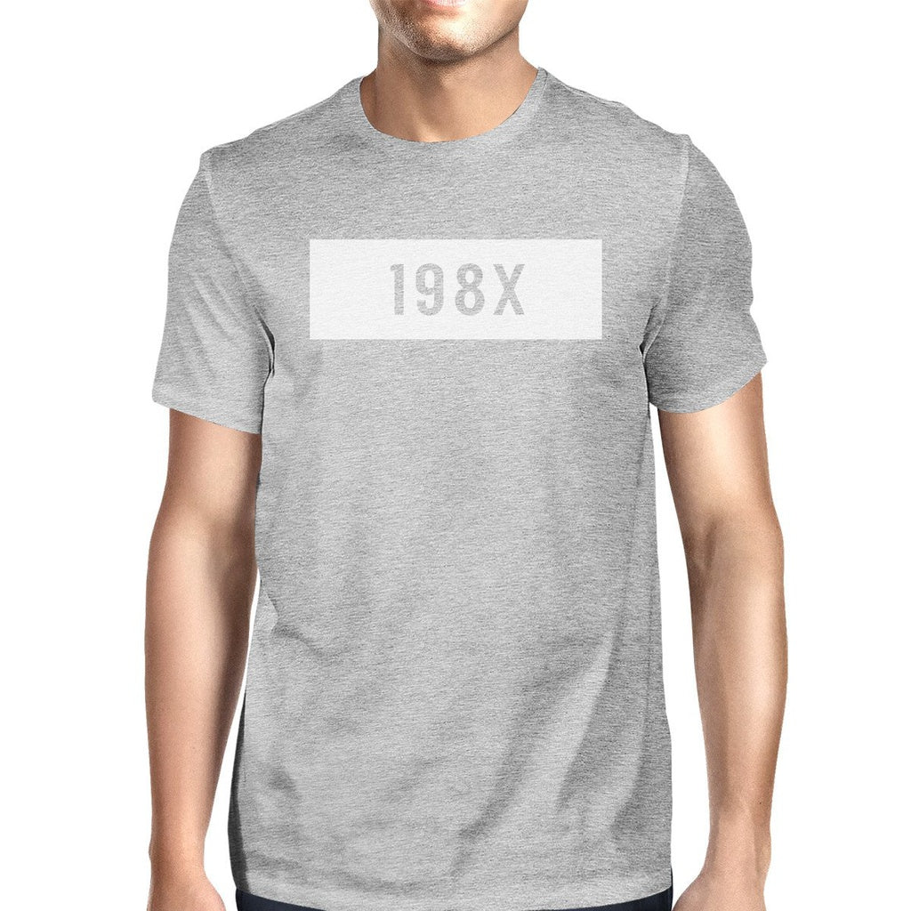 198X Mens Grey Graphic T-Shirt Funny Gift Ideas Birthday Gift Ideas