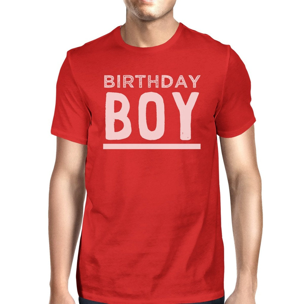 Birthday Boy Mens Red Shirt