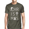 Christmas Letters Mens Dark Grey Shirt