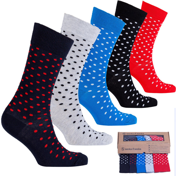 Solid Dots Men's Socks