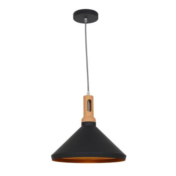 Ohr Lighting® Modern Torche Pendant, Matte Black/Gold (OH135)