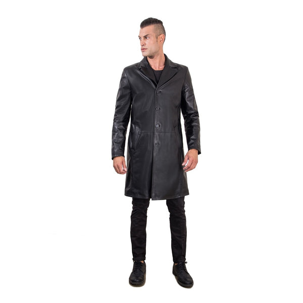 Men's Genuine Nappa Lamb Leather Coat