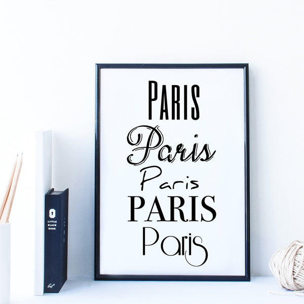 'Paris Style' Travel Poster