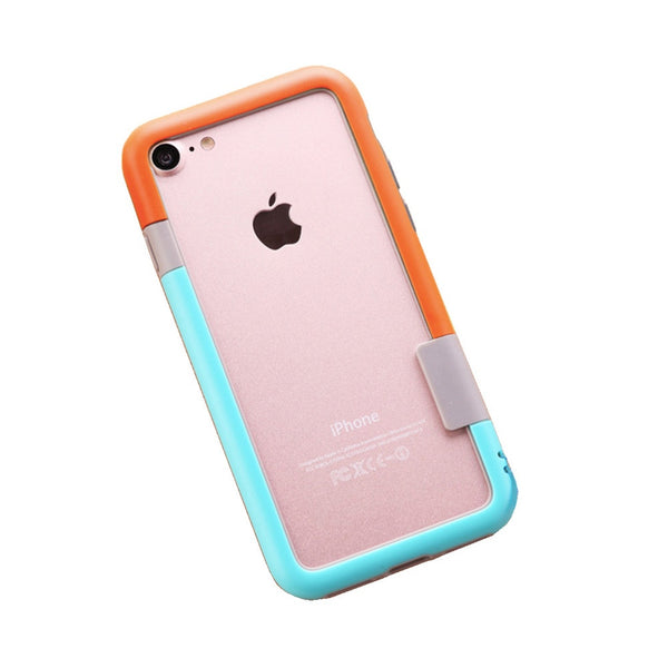 Color Combo iPhone 7 Frame Case (Orange & Blue)