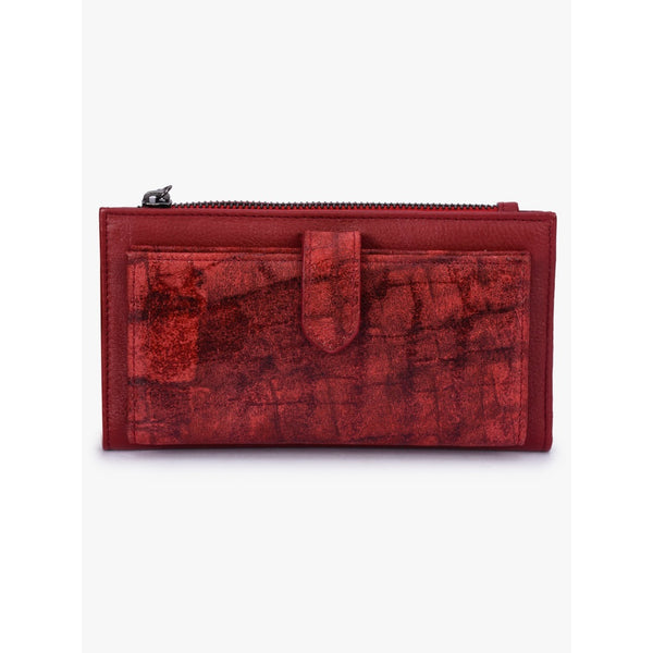 Phive Rivers Women's Red Leather Wallet