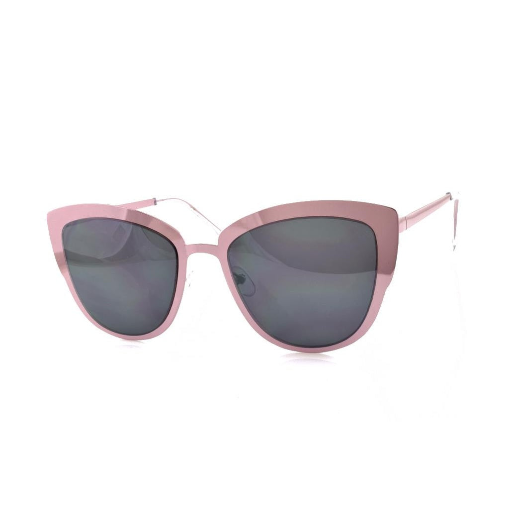 Pink Metal Mirror Sunglasses