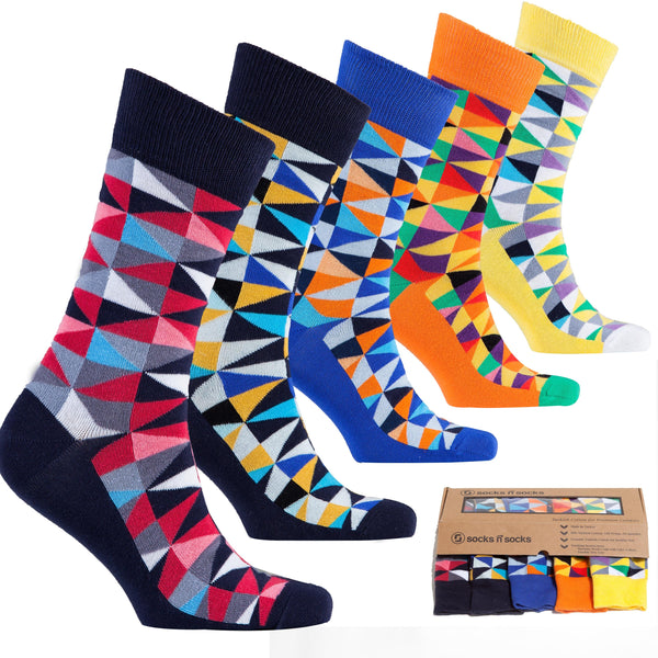 Stylish Triangle Men's Socks