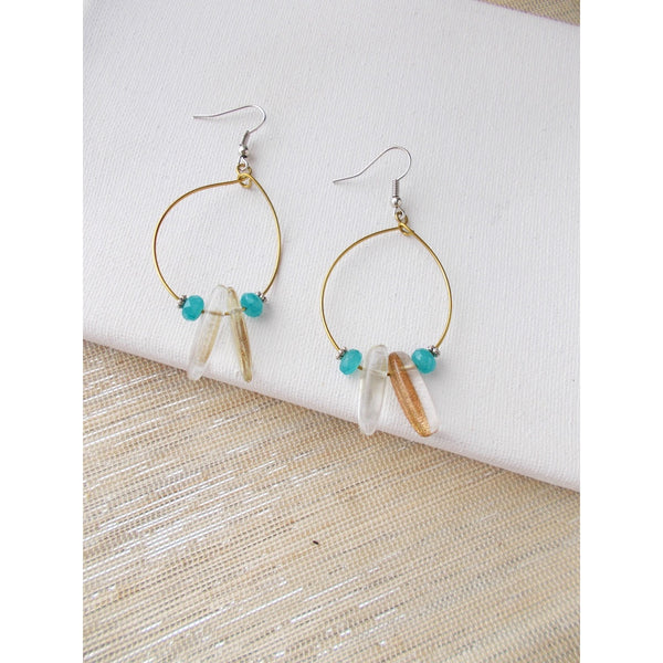 8636JE - Do You Dare Earrings, in Teal