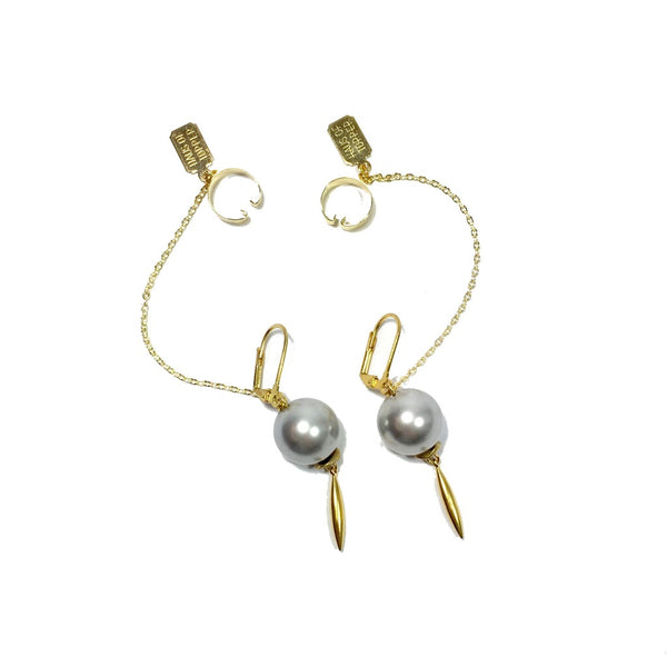 Pearl and cuff earring