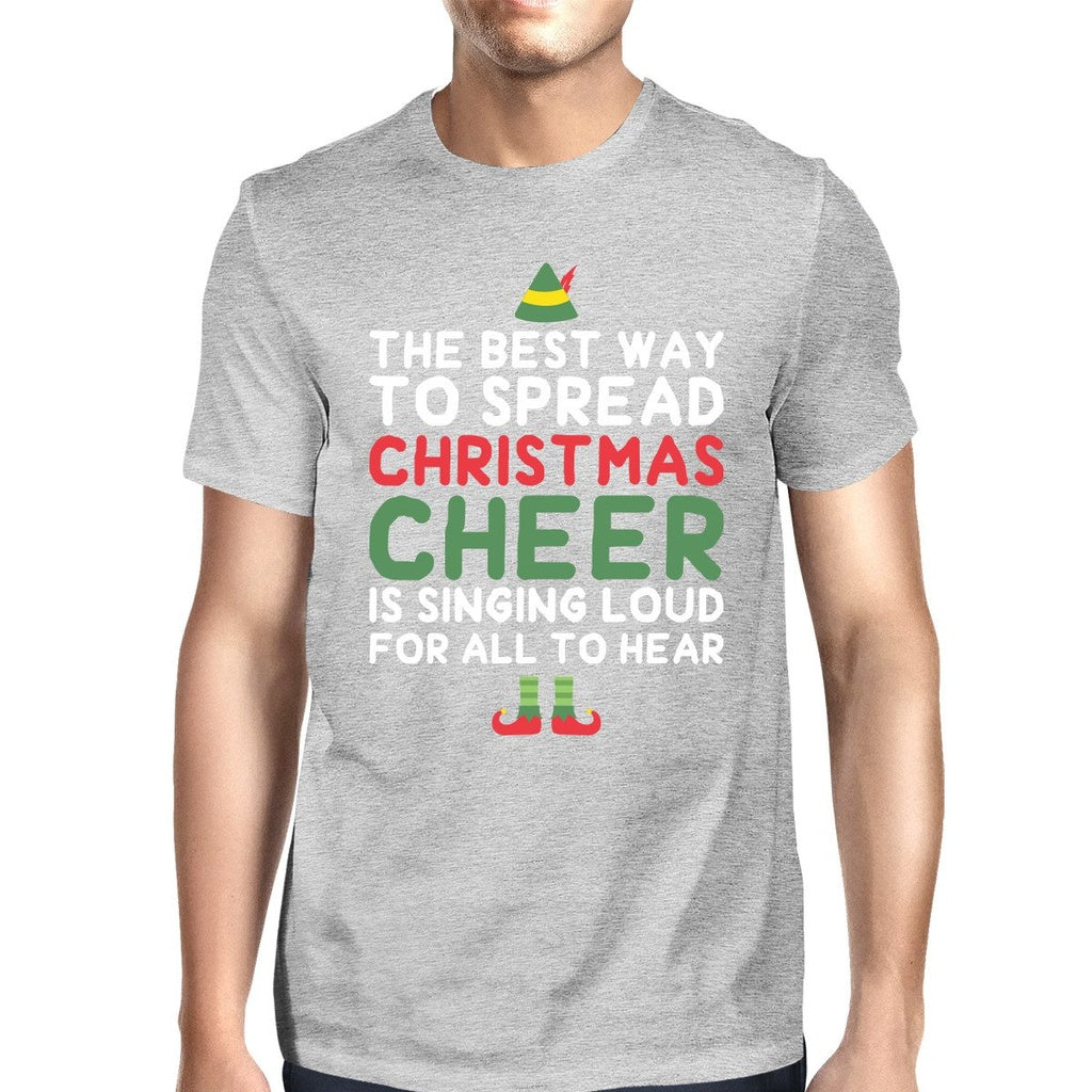Best Way To Spread Christmas Cheer Grey Men's Shirt Holiday Gift