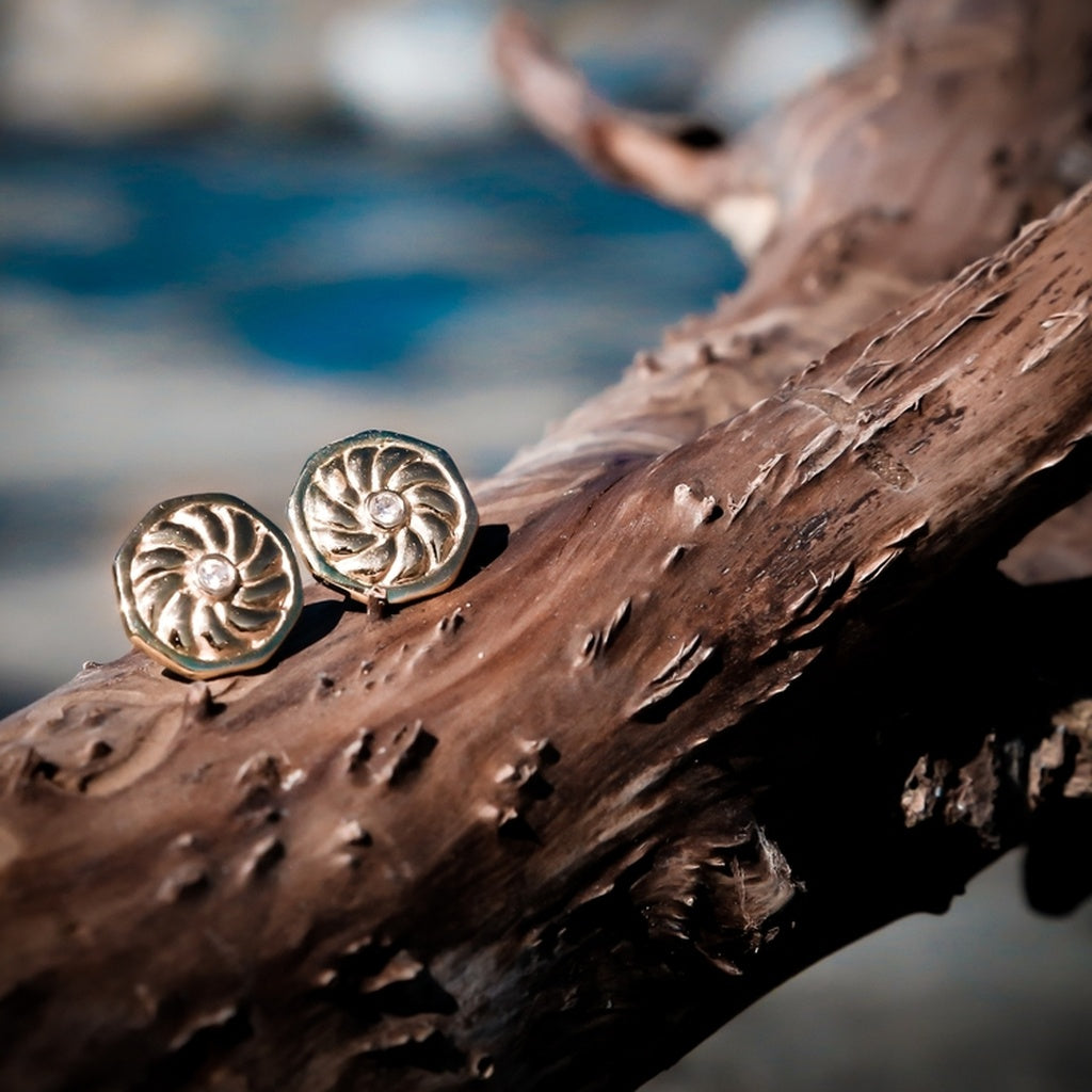 Aries stud earrings