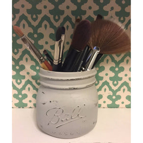 Grey Makeup Brush Holder
