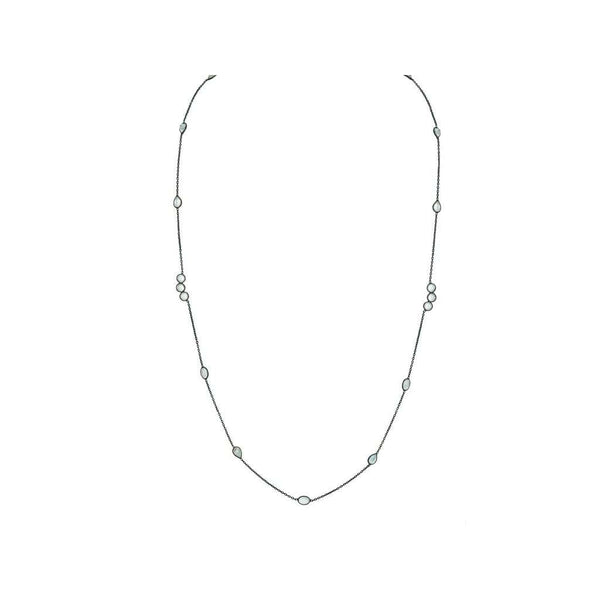 White Topaz by the Yard Necklace, 42""