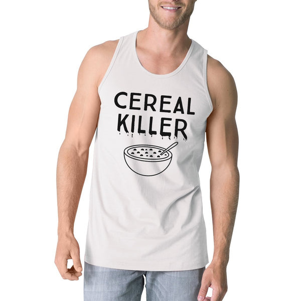 Cereal Killer Mens White Tank Top
