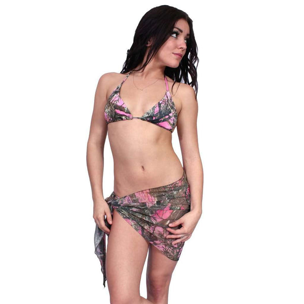 Women's Short Camo Sarong True Timber Beach Cover Up Made in the USA