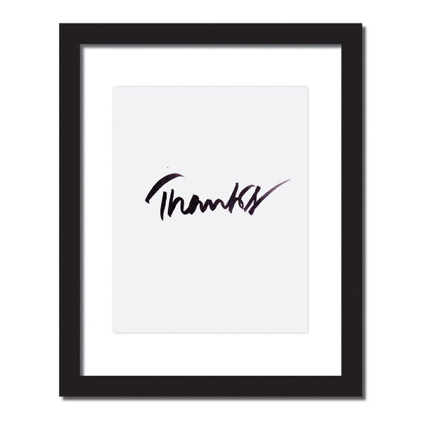 Inspirational print 'Thanks'