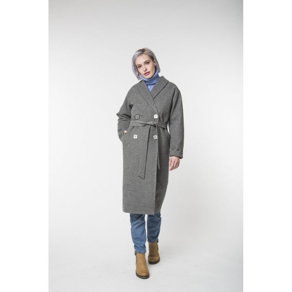 Long gray coat / Spring - autumn / Women's coat / Collection 2018 by REVALU