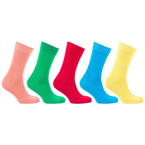 Men'S 5-Pair Colorful Design Socks-3050