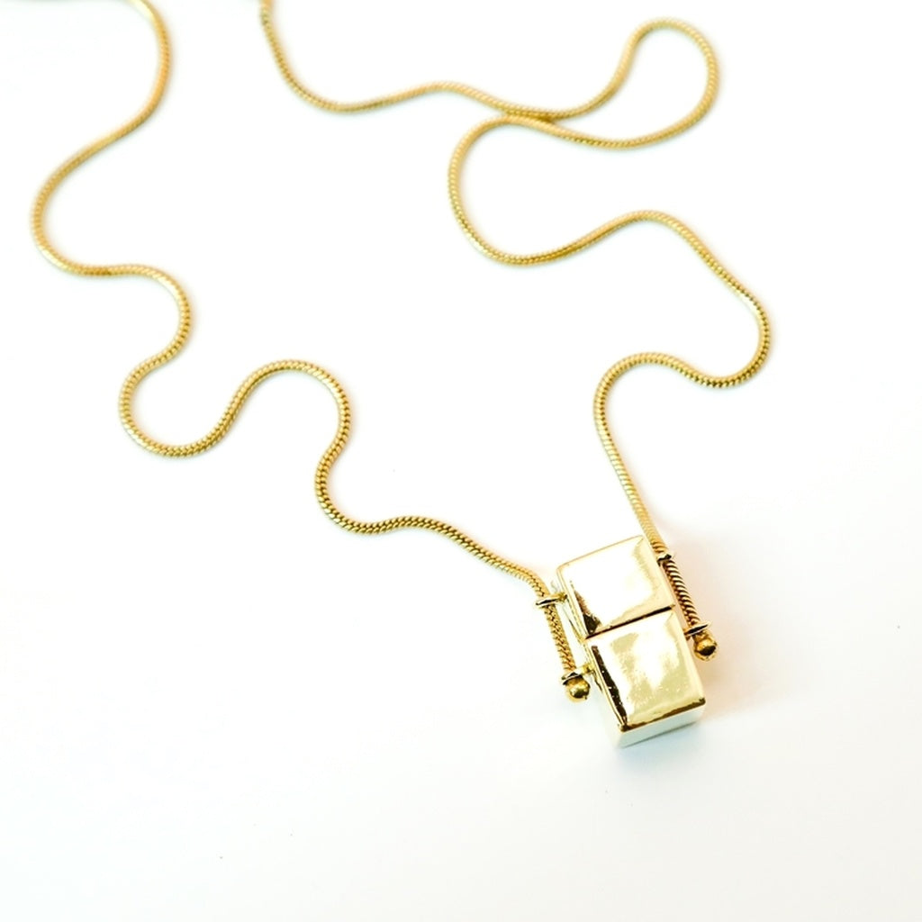 Love squared pendant  necklace