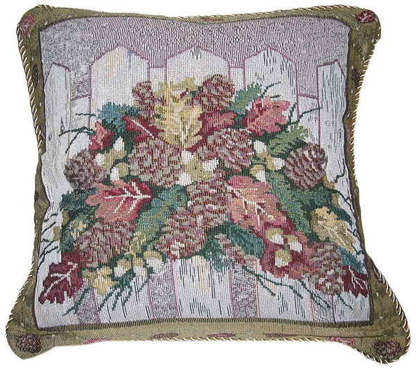 "Merry Christmas Fiesta Woven Accent Pillow Cushion Cover Case Sham Toss Throw - 18"" - 1-Piece"