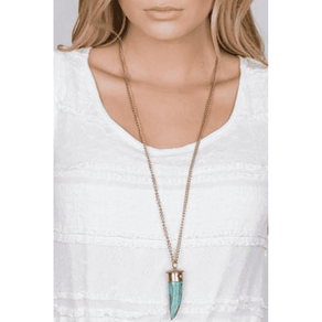 TURQUOISE SABER TOOTH NECKLACE