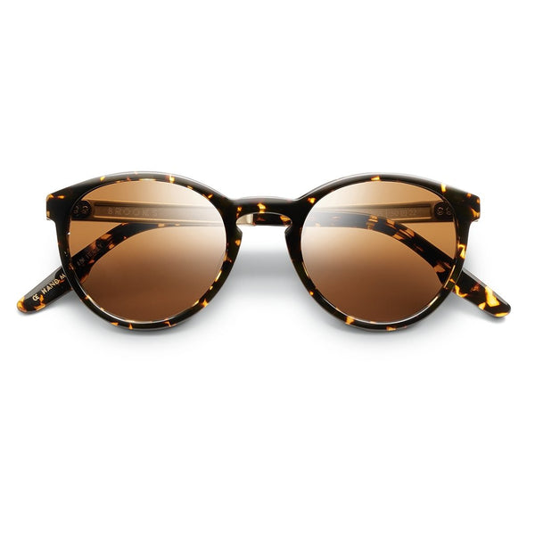 Brooks: Polished Ambercomb Tortoise - Brushed Gold / Bronze AR Lens
