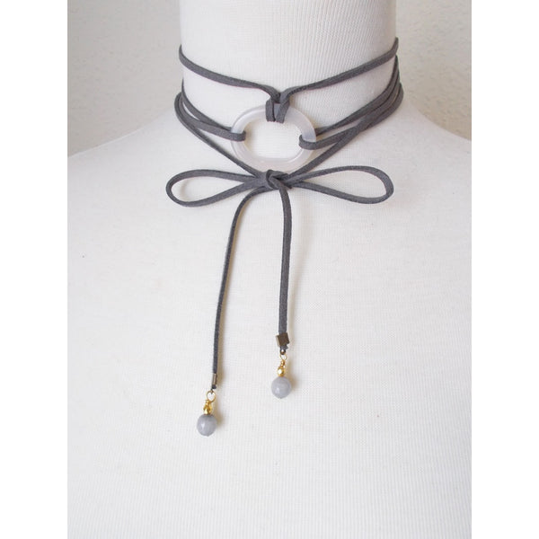 8703JN.c - DownPour Choker in Gray
