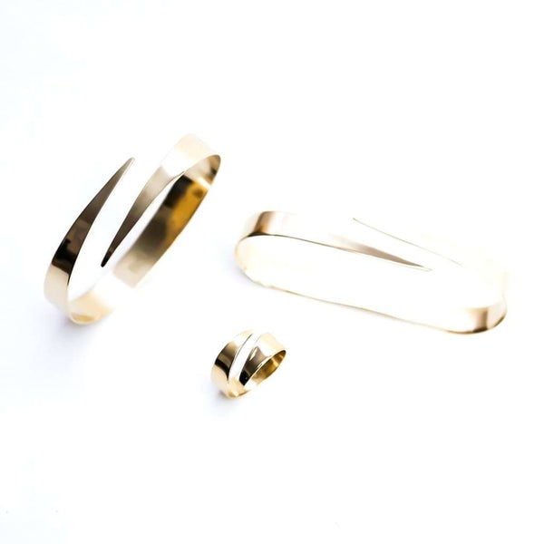 Ribbon pal cuff cuff or ring set