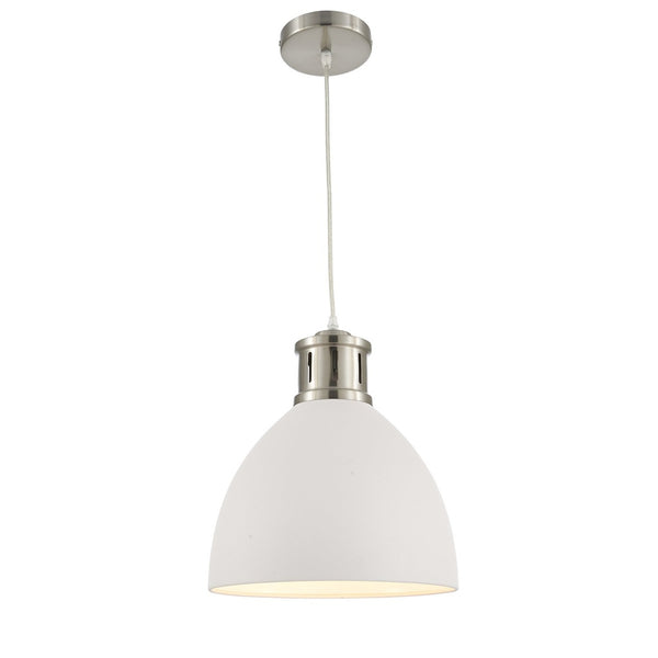 Ohr Lighting® Modern Aptakus Pendant, Sand White/Satin Nickel (OH129)
