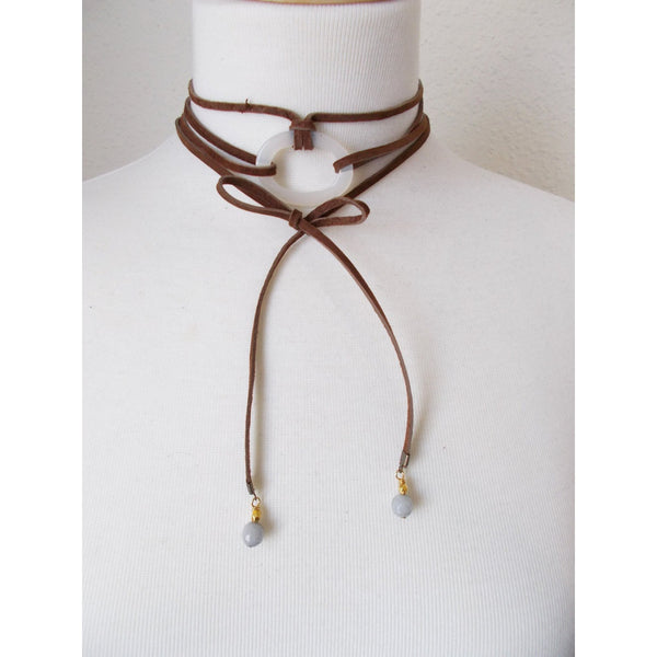 8703JN.a - DownPour Choker in Chocolate
